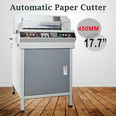 "Electric 450mm 17.7"" Automatic Paper Cutter Cutting Machine"