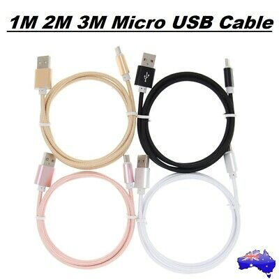 1M 2M 3M Flat MICRO USB CABLE DATA CHARGER FOR Android Mobile Phones Kindle HQ