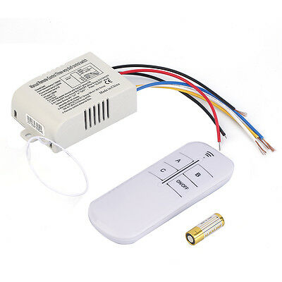 220V 3 Way ON/OFF Digital RF Remote Control Switch Wireless For Light Lamp AU