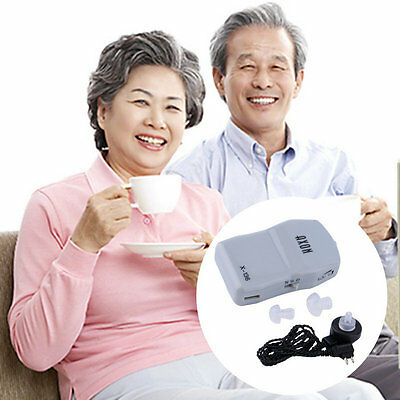 Best Sound Amplifier Adjustable Tone Hearing Aids Aid X-136 AU