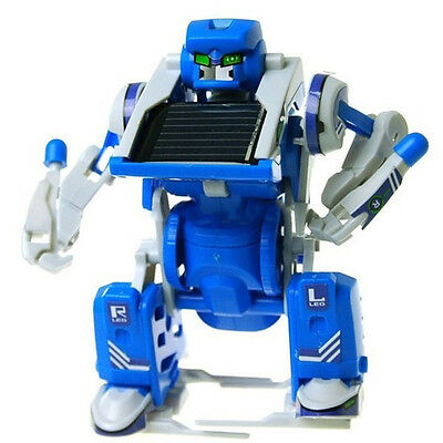 3 in 1 Solar Powered Movable Toy Robot Tank Transform DIY Educational Robot AU