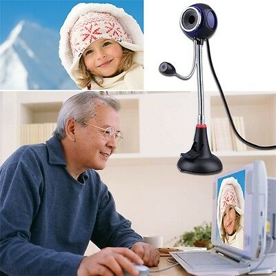 Bendable USB Webcam Web Cam Video Camera/Mic for PC Laptop Desktop Computer AU