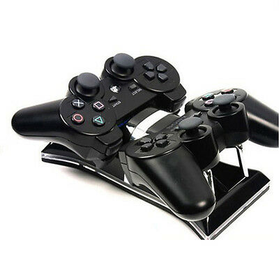 Dual USB Charging Station Dock For PS3 Wireless Controller Gamepad AU