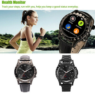S2 Waterproof Bluetooth Smart Watch Black stainless steel Smart Wristwatch AU