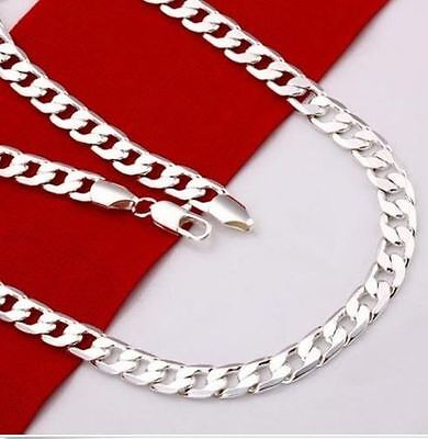 Stunning Sterling Silver 4mm Flat Curb Chain