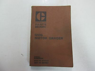 Caterpillar 120G Motor Grader Parts Book Manual 87V1 to 87V1137 WORN STAINED OEM