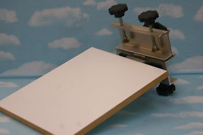 """Mint silkscreen printing holding fixture with new 10"""" squeegee"""