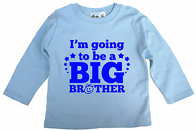 """Dirty Fingers Süß Baby Junge Skater Top /"""" I/'M Going To Be A Big Brother /"""""""