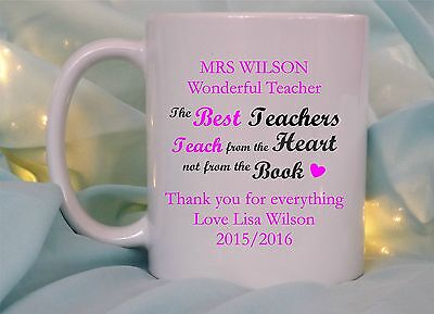 Personalised Wonderful Teacher Mug/coaster End Of Term School Thank You Present