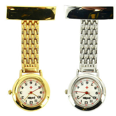 Fob Pocket Nurse Stainless Steel Gold Silver Tunic Brooch Quartz Watch With Box