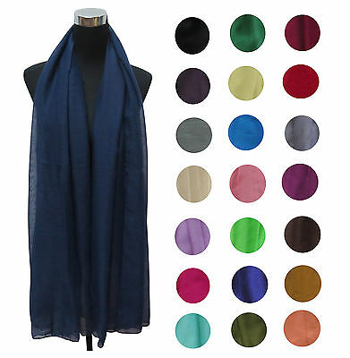 HIGH QUALITY Plain Solid Colour Women's Large Scarf Shawl Wrap Gift AU SELLER