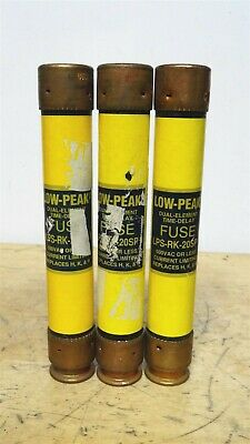 BUSSMANN * LPS-RK-20SP * DL38-21 Low Peak Time Delay Fuse * LOT OF 3 *NEW*
