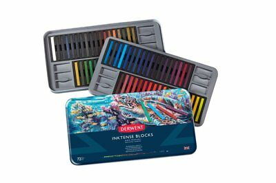 Derwent Inktense Blocks 72 Tin Set of Professional Water Colour Sticks