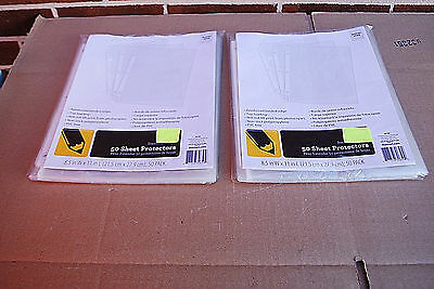 100 Clear SHEET PROTECTORS Letter Size / Top Loading / Standard Weight (#S6428)