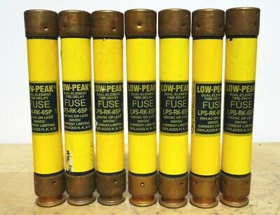 BUSSMANN * LPS-RK-6SP * Low Peak Time Delay Fuse * (LOT OF 7) *NEW*