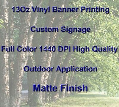13Oz Full Color Custom Signage Vinyl Banner Printing High Quality, Matte Finish