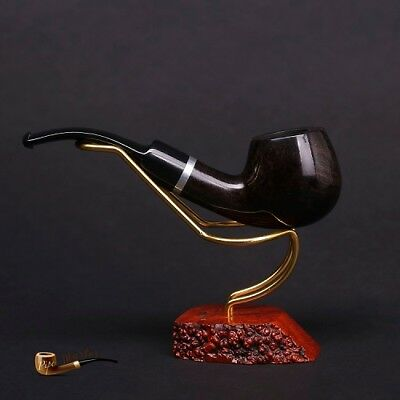 HAND MADE WOODEN TOBACCO SMOKING PIPE BRUYERE no 74 Black  Briar