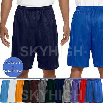 Men's Mesh Shorts Pockets Jersey pants S-5XL Soft Basketball Gym Dri-Fit Fitness