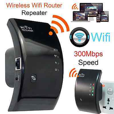 WiFi Signal Booster Internet Wireless Repeater Extender PC Router 300mbps Range