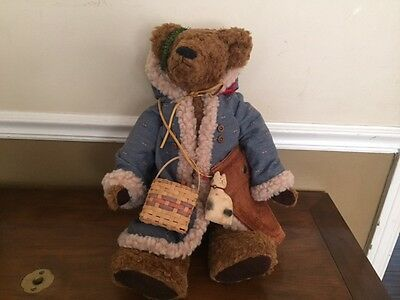 "Sugarloaf Mountain Bears ""Old World Santa"" by Kay Elmore 19"" Jointed Mohair"