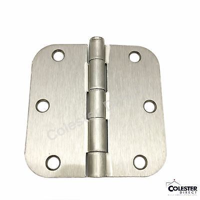 "Qty 30 Satin Nickel Interior Door Hinge 3.5"" x 3.5"" with 5/8"" radius 3 1/2 inch"