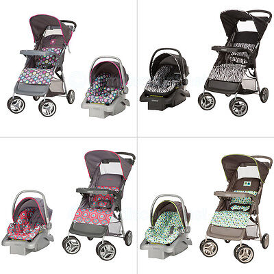 Travel System Stroller Car Seat Rear Facing Toddler Baby Infant Combo Lightweigh