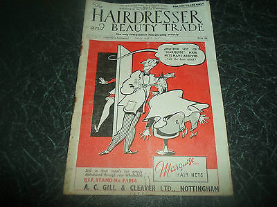 Vintage Retro ~ Hairdresser And Beauty Trade Mag 9th May 1947 +Advertising