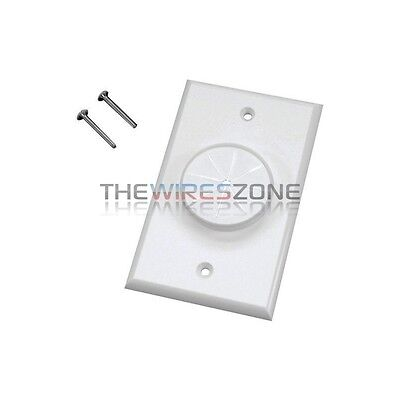 White Single-Gang Wireport Cable Pass Through Wall Plate with Grommet 1-Gang