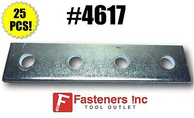 P1067 4 Hole Flat Splice Plate for Unistrut #4617 B-Line Channel 15//Pack