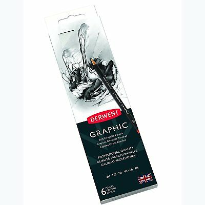Derwent Graphic Pencils - Tin of 6