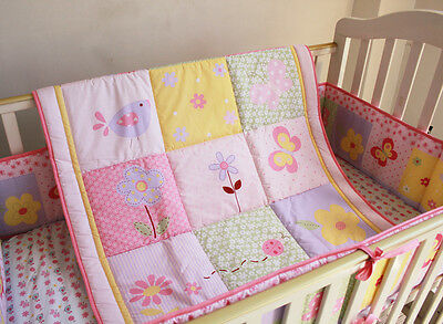 NEW Baby Cot Bedding Sets 7 PCs - Quilt Bumper Fitted Sheet 126-4