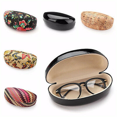 Large Eye Glasses Sunglasses Hard Case Portable Holder Protector Box Clamp Shell