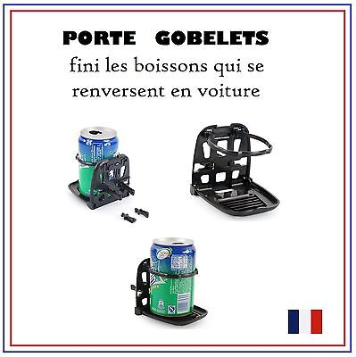 Porte Gobelet Voiture Pliable Support Boisson Canette Fixe Universel Aerations