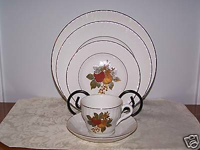 Enoch Wedgwood English Harvest 5 Piece Place Setting