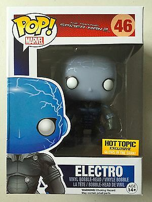 RETIRED Funko Pop Vinyl Exclusive Hot Topic SPIDERMAN Glow In The Dark ELECTRO