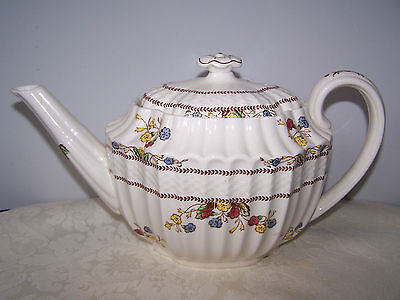 Beautiful Spode Cowslip Teapot With Lid - Brown Stamp
