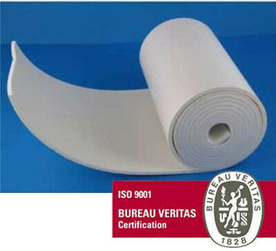 "Adhesive Rubber White Foam Sheet Roll 1/8""x6""x2Yds Orthopedic Medical Grade USA"