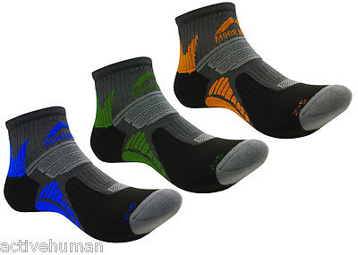 3 Pairs of More Mile Moscow Race Running Ankle Socks Sports Mens Ladies Womens