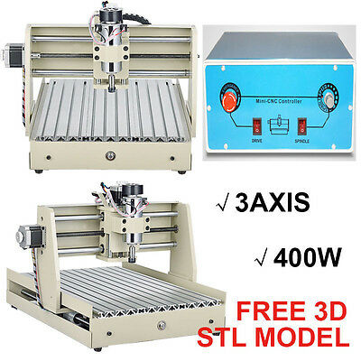 400W 3040 3AXIS TSCREW CNC ROUTER ENGRAVER ENGRAVING MACHINE with mach3 software