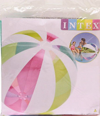 "Giant Intex 42"" Inflatable beach ball Colourful strip design Jumbo ball-107cm"