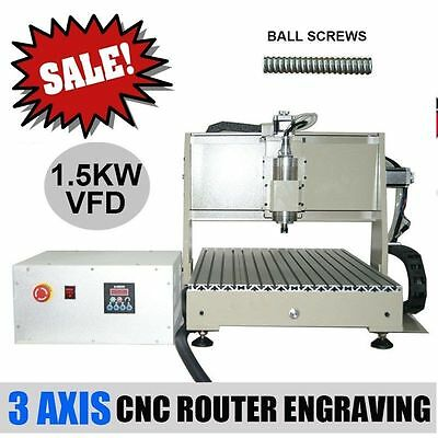 3 Axis Cnc Router Engraver Engraving Machine Drilling Milling 6040 1.5Kw Vfd Cut