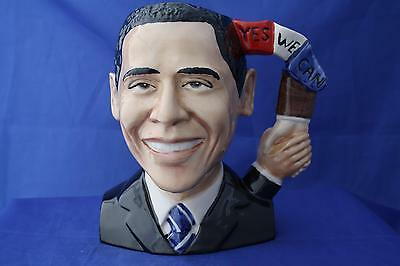"""Peggy Davies """"yes We Can"""" Barack Obama Character Jug - New / Boxed"""