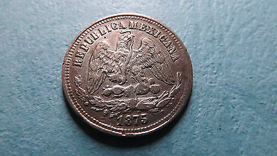 The lure of Shiny metal. Rare Year Type 1875 Silver Mexico Potosi 25 Centavos