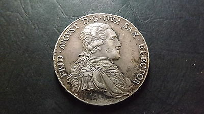 1805 German Saxony Silver Taler Albert Frederick August I