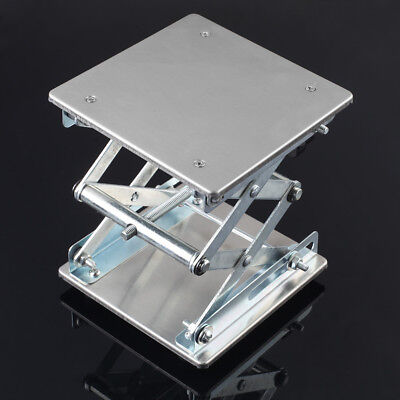 150MM*150MM Steel Lab-Lift Lifting Platforms Stand Rack Scissor Lab Jack 6""