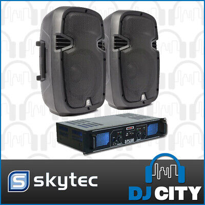 Skytec SPJ1000 10-Inch PA Speaker Package with SPL 500 watt Amplifier USB, SD...