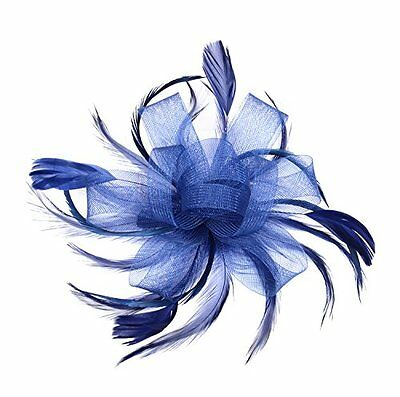Womens Ladies Fascinator Hat with Comb Tea Party Derby Wedding Accessory A-Navy