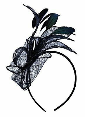 Womens Lady Girls Cocktail Elegant Fascinator Headwear with Headband One Size,
