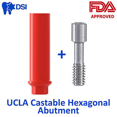 UCLA Plastic Castable Abutment for Dental Implant With Hex For Casting