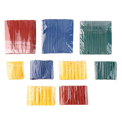 260pcs 8 Size 2:1 Heat Shrink Tubing Tube Sleeving Wrap Wire Cable Kit AU